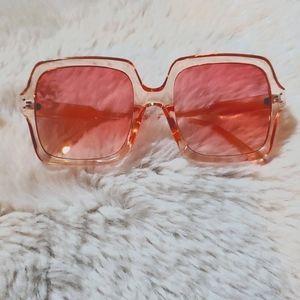 Oversized Pink Gradient Sunglasses